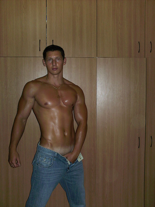 muscles in jeans